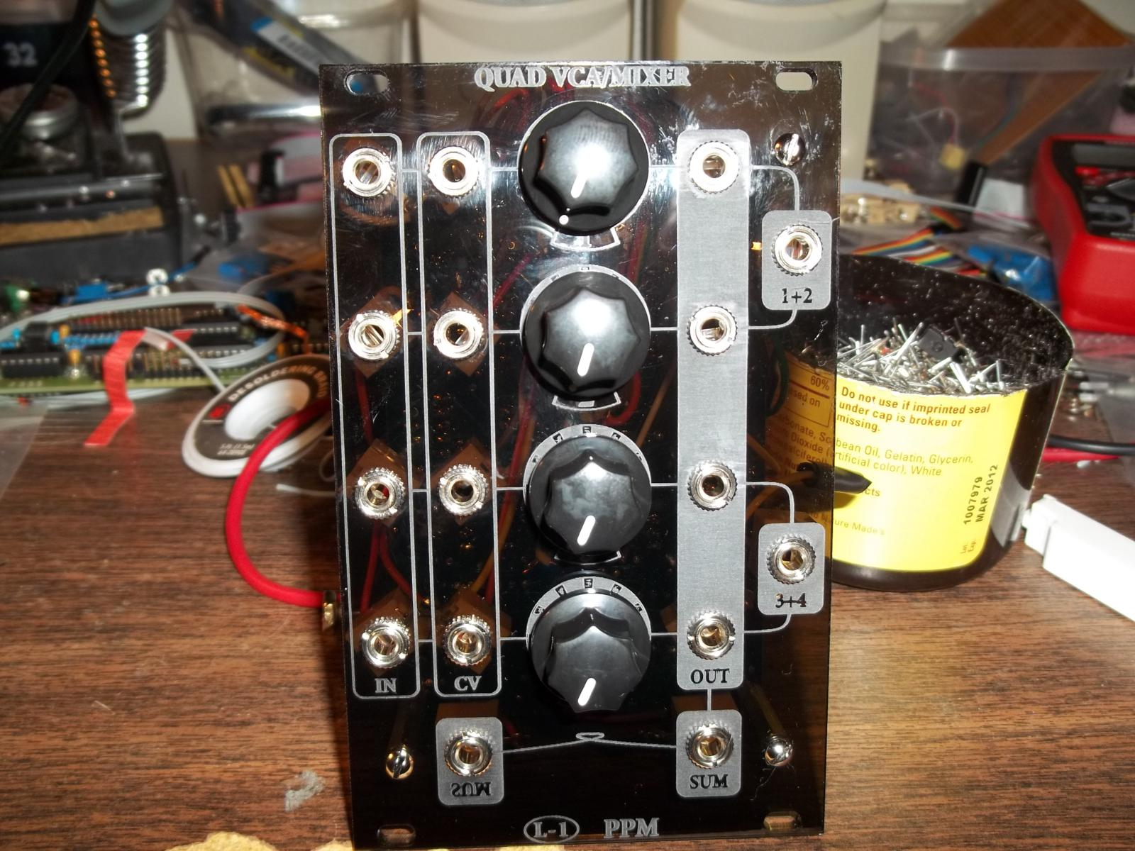 Quad VCA / Mixer by L-1 Synthesizer